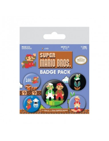 Pack de chapas Super Mario Bros